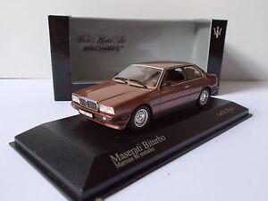 MINICHAMPS-Maserati-biturbo-EN-BOITE-VITRINE-ET-SURBOITE-ECHELLE-1-43