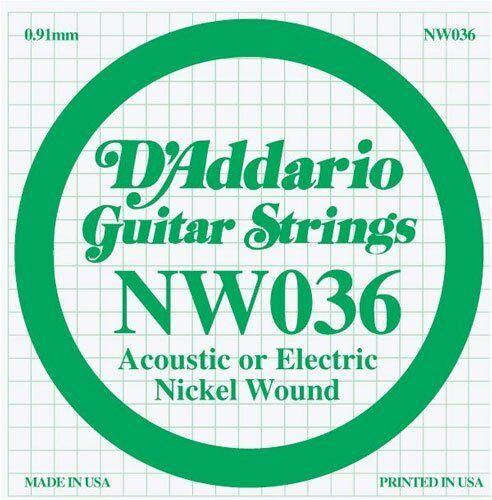 D/'Addario Nickel Wound Single Guitar Strings 5 X 036.P//No:-NW036