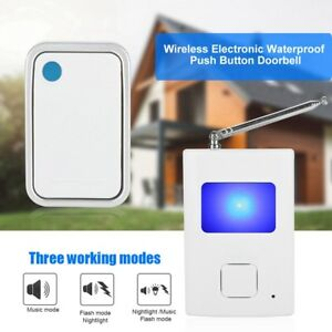 Details about Homesafe Electronic Wireless Remote Push Button W/Dog Barking  Sound Doorbell New