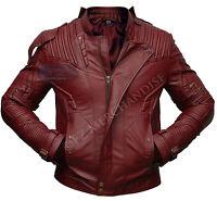 Guardians of the Galaxy 2 Star Lord Chris Pratt Maroon Faux Leather Jacket