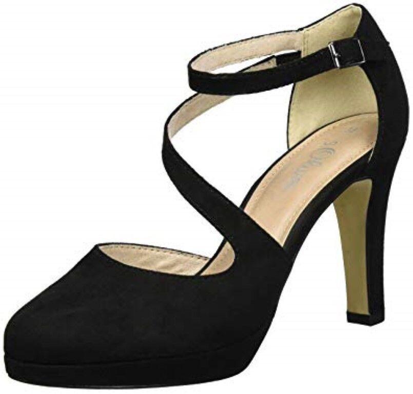 S. Oliver WOMEN'S 24402 Cerrado toe y Correa en el Tobillo Zapatos JS088 BB 06