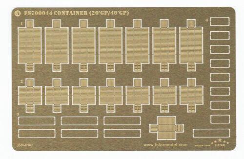 Fivestar PE 1//700 moden Containers 20/'GP//40/'GP FS700044