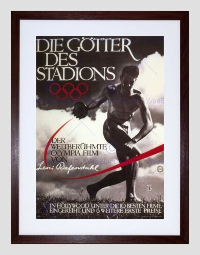 POLITICAL SPORT FILM OLYMPIA LENI RIEFENSTAHL GERMANY FRAMED ART PRINT B12X1088