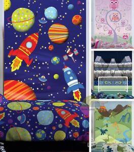 Kids-Wall-Art-Decorative-Mural-Wallpaper-Hanging-Catherine-Lansfield-Dino-Space