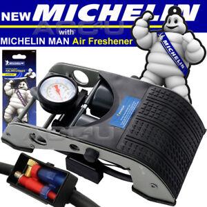 Michelin-Double-Piston-Twin-Barrel-Car-Bike-Bicycle-Tyre-Ball-Inflator-Foot-Pump