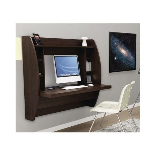 Floating Desk Wall Mounted Office Furniture Computer Student Dorm Space Saving