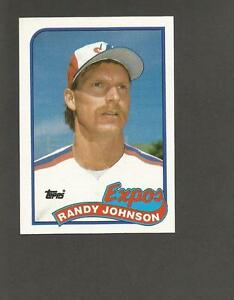 Details About 1989 Topps 647 Randy Johnson Rookie Card Rc Expos Actual Card Shown Very Nice