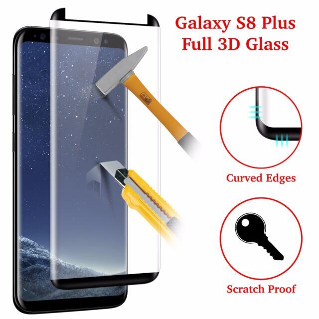 Case Friendly Verre Trempé Protecteur d'écran Full Cover Samsung Galaxy S8 Plus