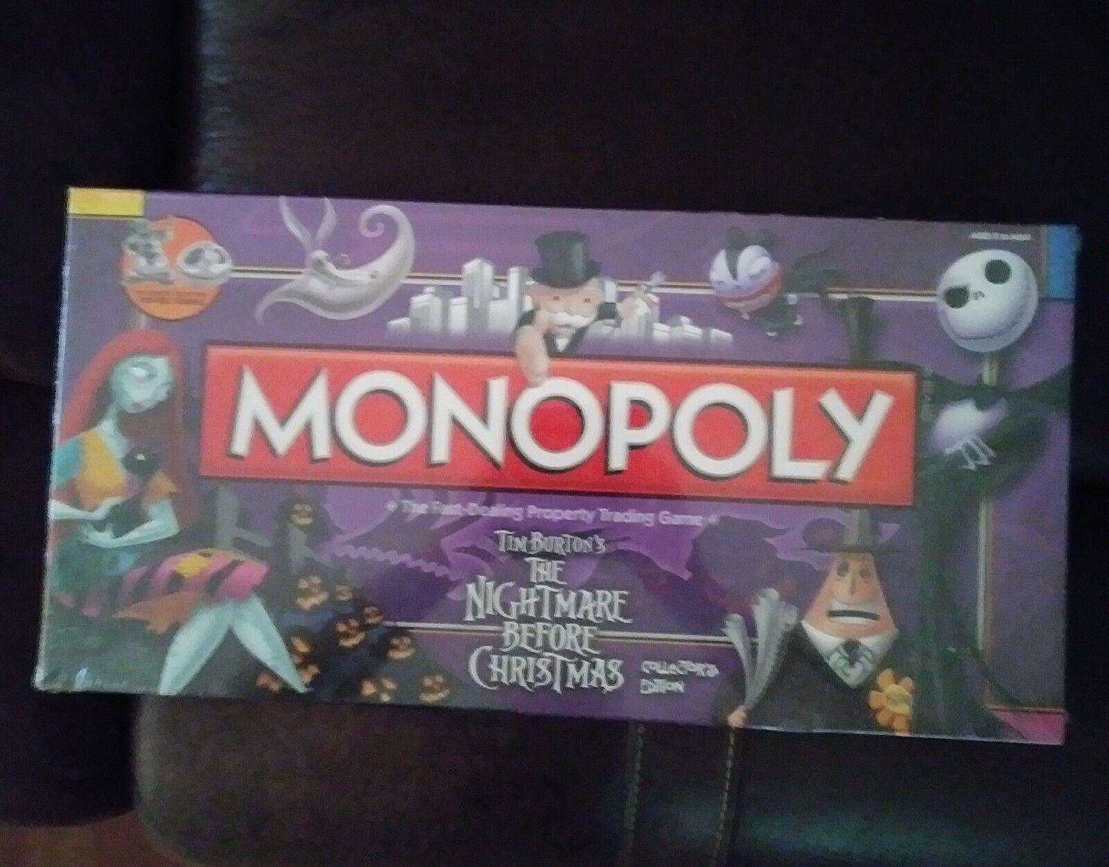 Monopoly ist collectors edition der nightmare before christmas fabrik versiegelt spiel