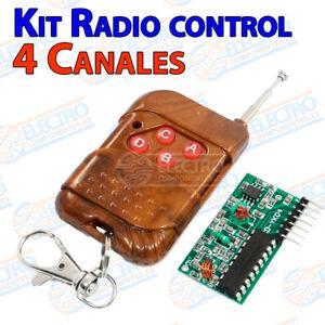 Detalles De Kit Control Remoto 315 Mhz Rf 4 Canales 30 60m Wireless Remote Arduino 2262 2272