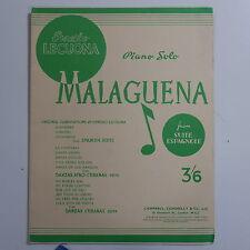 ASSOLO di pianoforte Ernesto LECUONA-MALAGUENA da Suite ESPAGNOLE