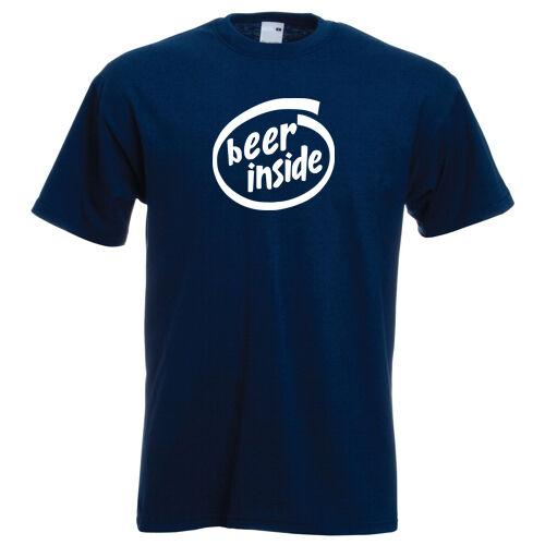 BEER INSIDE t-shirt funny drinking pub bar festival Tshirt stag night holiday