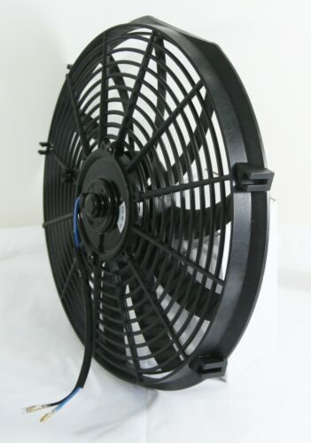 "14/"" Racing Radiator Cooling Fan High Efficiency Slim Pull//Push+Mounting Kits"