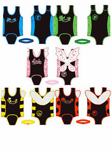 Twf baby toddler wrap wetsuit swimsuit children tot infant warmer swimming pool ebay - Costume neonato piscina ...
