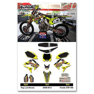 2009-2012 HONDA CRF 450 Dirt Bike TLD Neon Graphics kit Motocross Graphics Decal