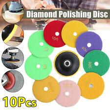 4 In Diamond Polishing Pads Wetdry 10 Piece Set Granite Stone Concrete Marble
