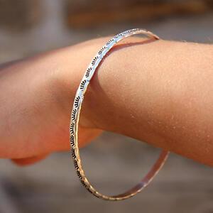 Garnet Sterling Silver Bangle Desert Sun