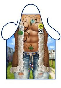 """ICONIC MENS NOVELTY APRON /""""SEXY COWBOY/"""",AS SUMMERS BBQ,COSTUME,ONE SIZE"""