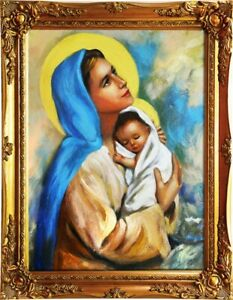 Religion-Mary-Handmade-Oil-Painting-Picture-Oil-Frame-Pictures-G01541