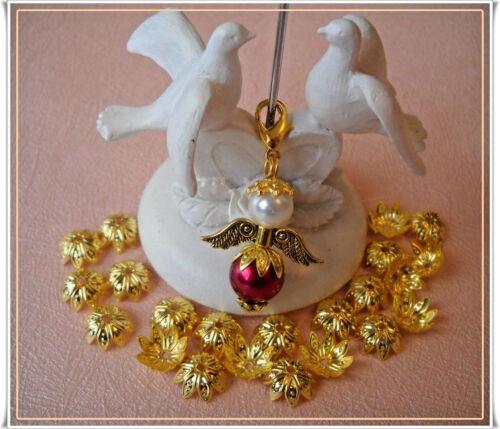 30-100 Perlenkappen 10 mm Metall Perlkappen Endkappen Gold Farbe