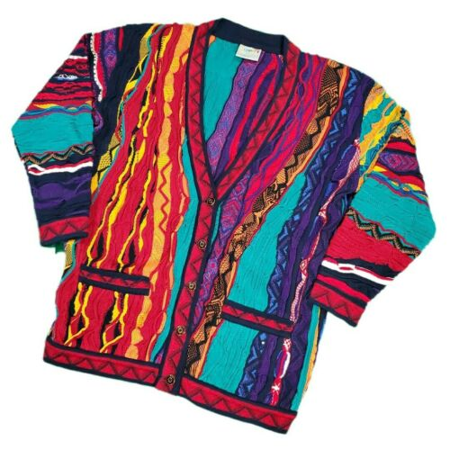 Vintage 90s Womens Coogi Cardigan Sweater Size Med