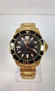 Invicta-Pro-Diver-Men-039-s-10626-Gold-Tone-Watch-USED-IN-BOX