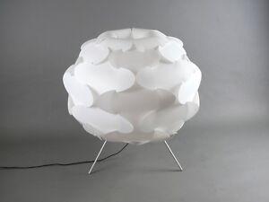 space age design ikea fillsta stehlampe bodenlampe tripod dreibein weiss 75cm ebay. Black Bedroom Furniture Sets. Home Design Ideas