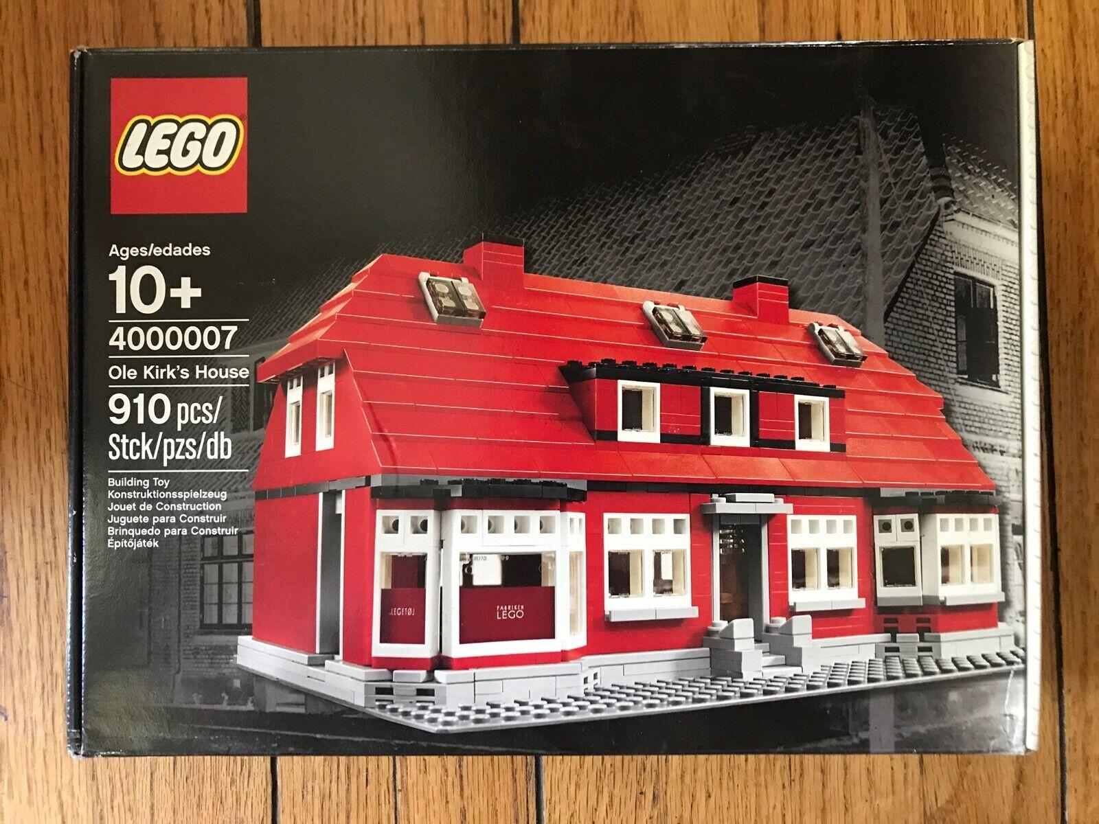 Nuevo  Regalo Ole Kirk empleado de Lego's House 4000007  Caja tiene pliegues  (B)