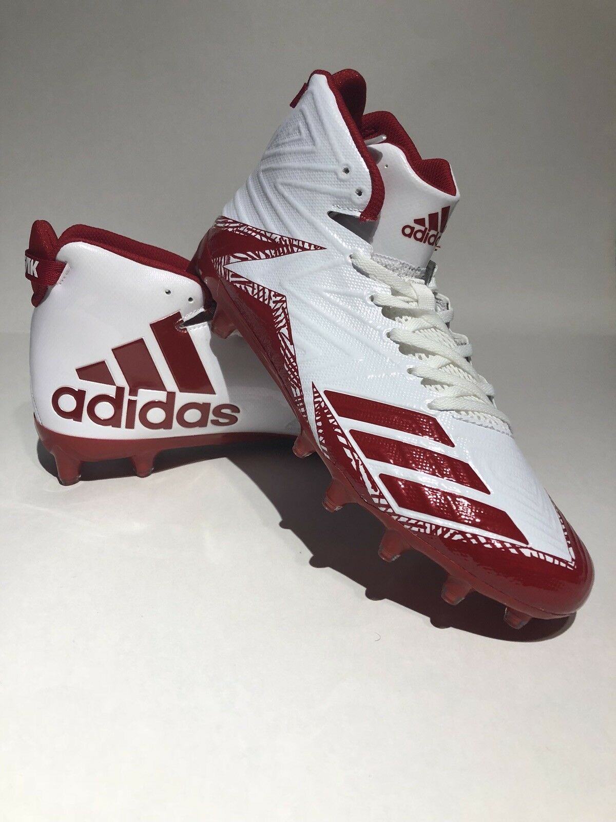 Adidas Men's Freak X Carbon Mid Size 10.5 Football Cleats White Power Red