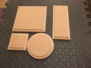 En Bois Plaques Rond/carré/rectangle 18 Mm Mdf Blanc Signes Stands Plinthes-afficher Le Titre D'origine Performance Fiable