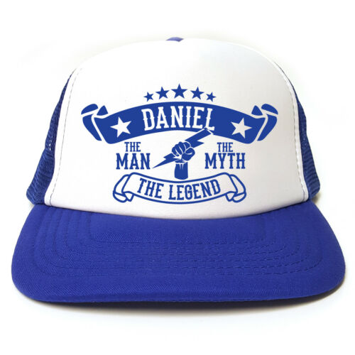 Funny Retro Trucker Cap Snapback The Myth Daniel The Man The Legend