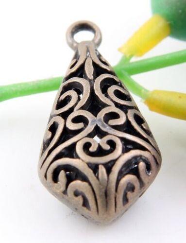 Wholesale 5//12Pcs Tibetan  Bronze  Charms33x16x12 mm Lead-free