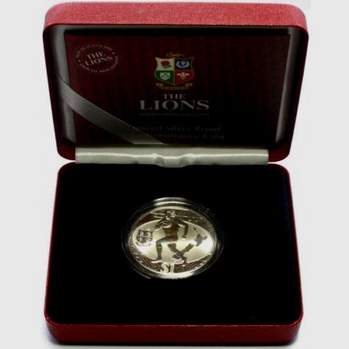 2005 Silver $1 Proof Coin Rugby Lions Tour League New Zealand