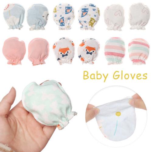 1//5Pairs Newborn Baby Soft Cotton Handguard Anti Scratch Mittens Gloves Infant