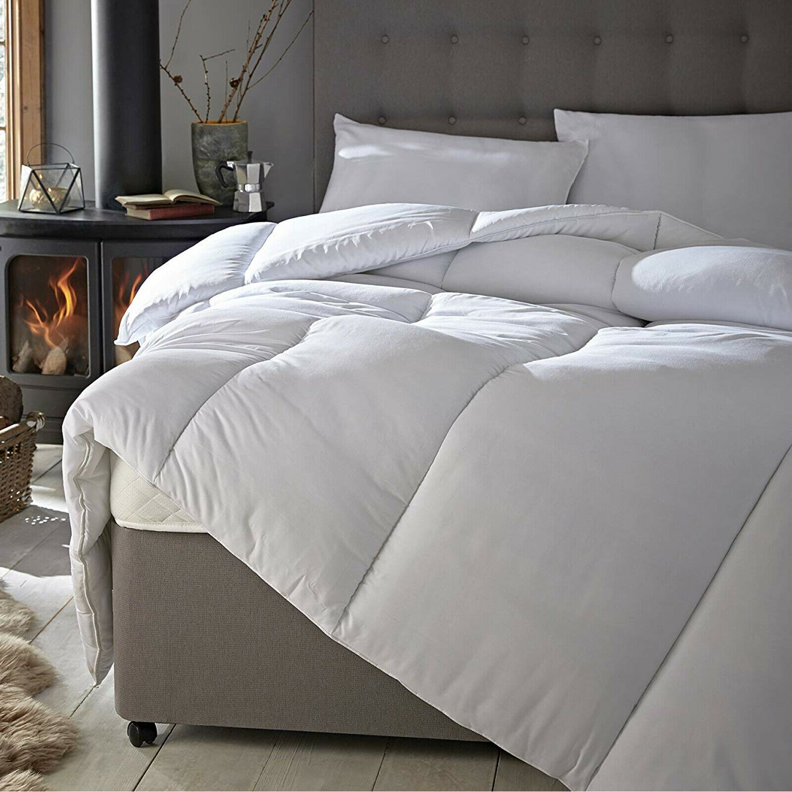 Anti Allergy Duvet Extra Fluffy Hollowfibre Quilts All Seasons Duvets 40/% OFF RP