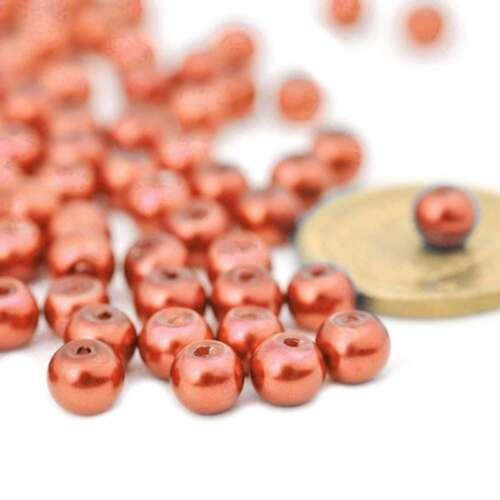 3//4//6//8//10//12//14mm espaciador granos de cristal de Perla Redondo artesanía Fabricación De Joyas Hazlo tú mismo