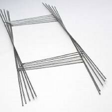 """50 H 10/""""x15/"""" Wire Step Stakes Holder Lawn Signs Wire Stands For Corrugated sign"""