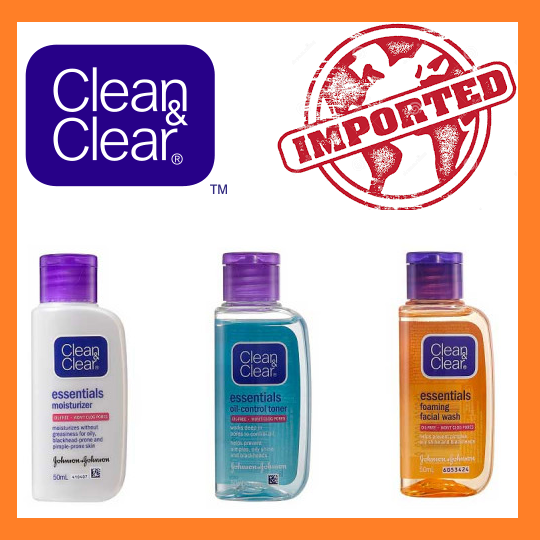 Clean & Clear Regimen Pack Foaming Facial Wash + Moisturizer + Oil Control Toner