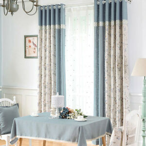 Delicate-Light-Blue-Jacquard-Blockout-Luxury-Curtains-Custom-Made-Sheers-Drapes