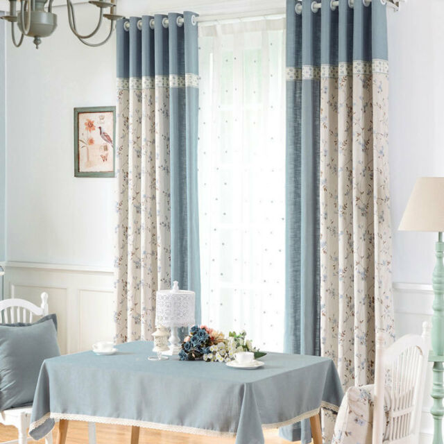 Delicate Light Blue Jacquard Blockout Luxury Curtains Custom Made Sheers Drapes
