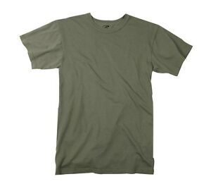 a156bf953229 Mens ARMY T-Shirt -Solid OD GREEN OLIVE DRAB ROTHCO SIZE S M L XL 2X ...