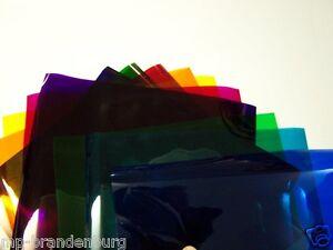 2x 20er Set PAR 64 Farbfolien 24,8x24,8 cm Farbfilter Farbfolie PAR64 Color Mix