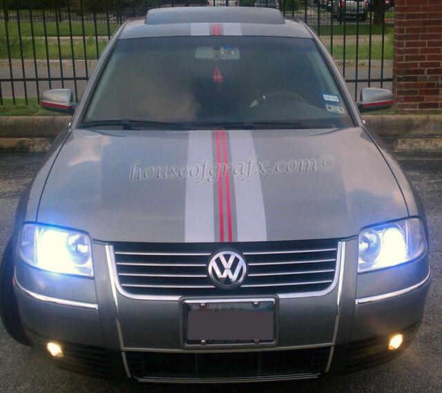 2 color racing stripe graphics fit any yr volkswagen passat jetta beetle golf