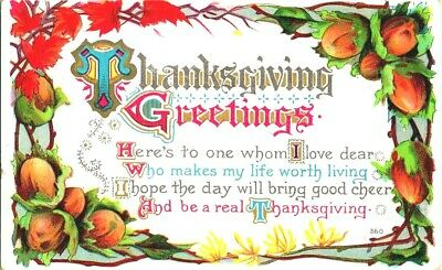 Early 1900\u2019s Thanksgiving Greeting postcard vintageantique A Glad Thanksgiving