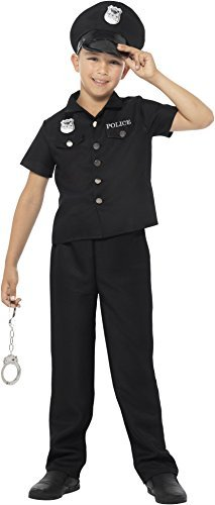 New York Cop Costume, Black, with Top, Trousers & Hat -   (US IMPORT) COST-M NEW