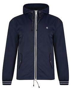 Original-Penguin-New-Men-039-s-Lightweight-Hooded-Jacket-Ratner-Rain-Cagoule-Coat
