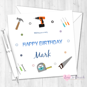 Image Is Loading DIY Lover Personalised BIRTHDAY CARD For Him Dad