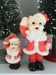 Vintage Christmas Candle Pair Gurley Buffalo Ny Santa