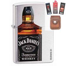 Zippo 28842 jack daniels bottle Lighter + FUEL FLINT WICK POUCH GIFT SET