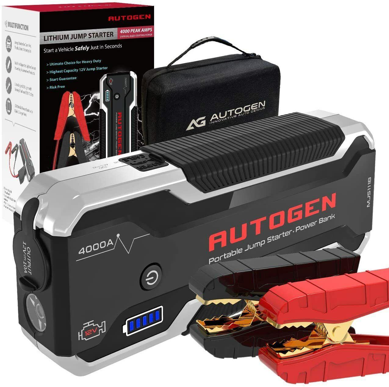 ⚡ AUTOGEN 4000A Peak 32000mAh Car Jump Starter Battery Charger Sealed (10.0L+